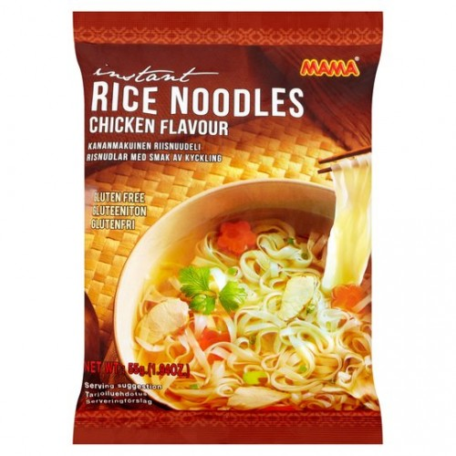 Instant rice gluten free noodles with chicken flavour