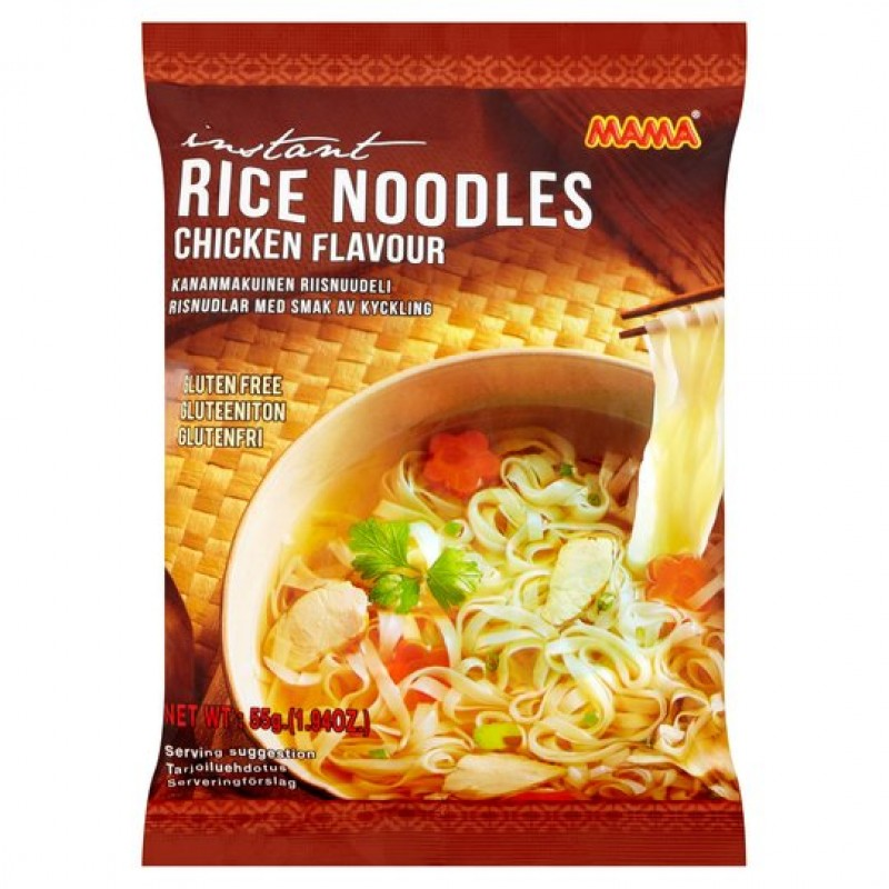 Instant rice gluten free noodles with chicken flav...