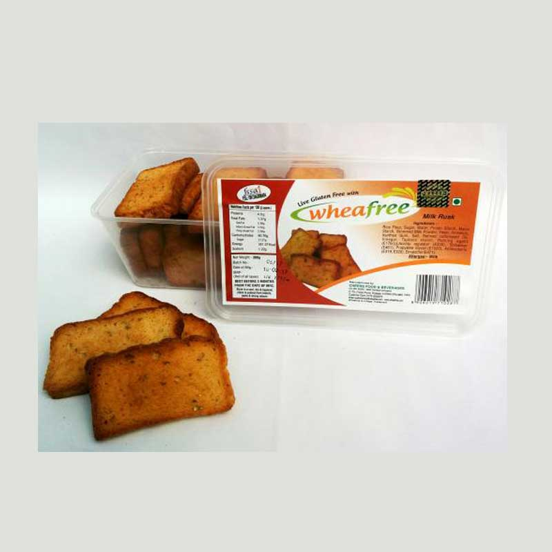 Eggless Milk Rusk