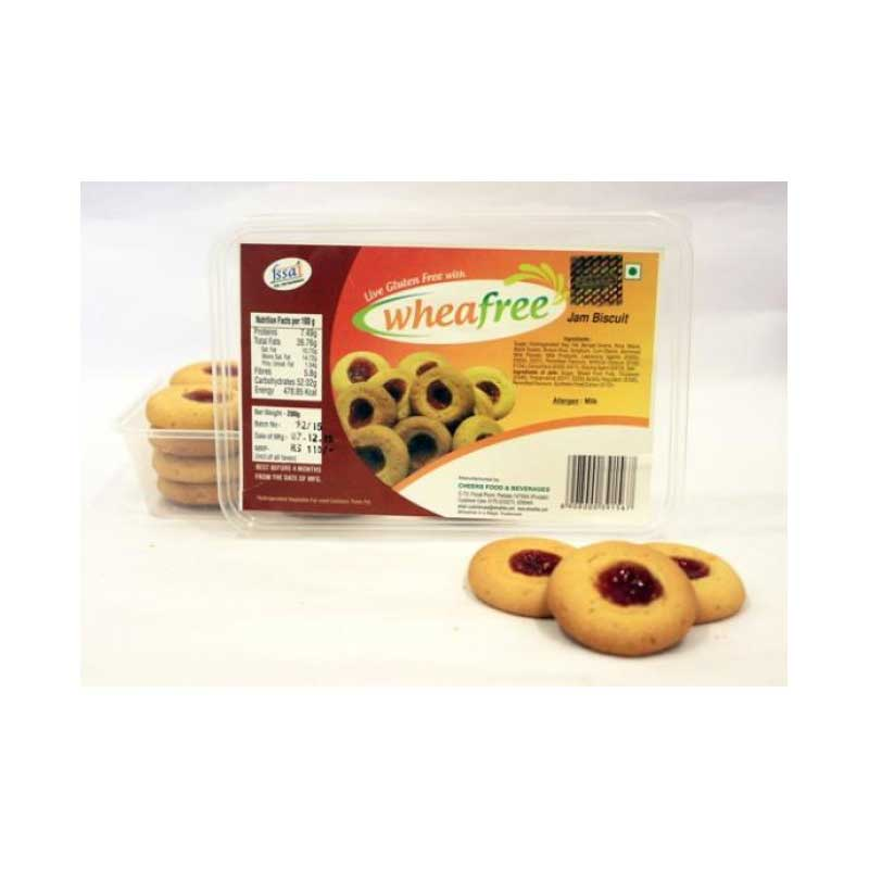 Wheafree Gluten Free Jam Biscuits 200 G
