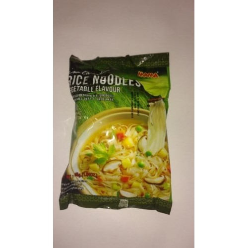 Mama Instant rice gluten free noodles with vegetable flavour