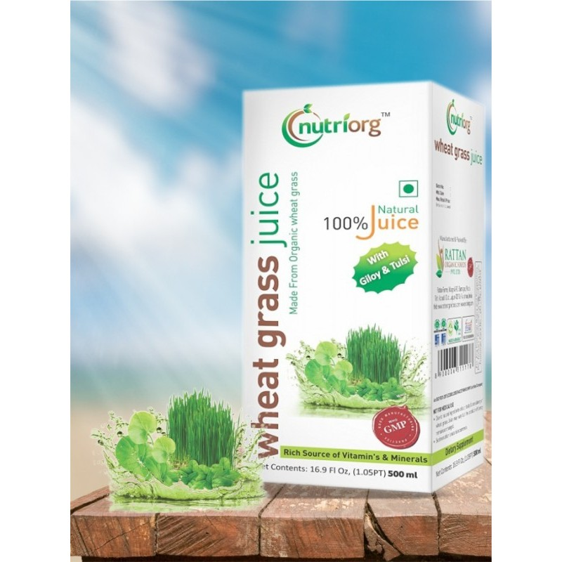 Organic Wheat Grass Juice 100% pure - Made from Or...